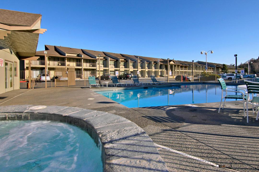 Refresh & Relax in Our Outdoor Pool & Hot Tub